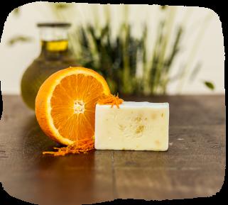 sapouni apo eleiolado me aroma portokali